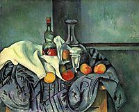 Still life, peppermint bottle, 1895, cezanne