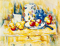Still Life with Apples, a Bottle and a Milk Pot, c.1904, cezanne