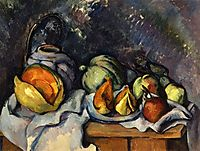 Still Life with Fruit and a Ginger Pot, c.1895, cezanne