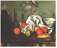 Still life with fruits, 1880, cezanne