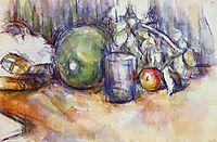 Still Life with Green Melon, c.1906, cezanne