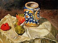Still life with Italian earthenware jar  , c.1874, cezanne