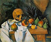 Still Life with Skull , 1898, cezanne