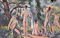 Study of Bathers , c.1898, cezanne