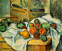 Table, Napkin and Fruit, c.1900, cezanne