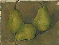 Three Pears, 1879, cezanne