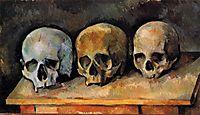 The Three Skulls , c.1900, cezanne