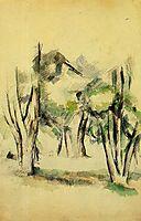 Trees, 1884, cezanne