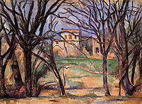 Trees and houses , 1886, cezanne