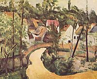A Turn in the Road, 1882, cezanne