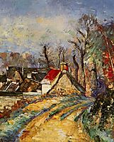 The Turn in the Road at Auvers, 1873, cezanne
