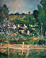 View of Auvers, 1873, cezanne