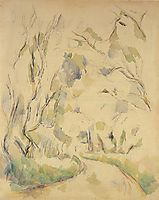 Well by the Winding Road in the Park of Chateau Noir, c.1900, cezanne