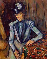 Woman in Blue. Madame Cezanne, c.1902, cezanne