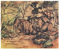 Woodland with Boulders , 1893, cezanne