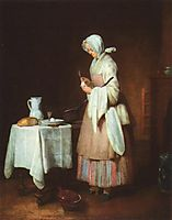 The Attentive Nurse, c.1738, chardin