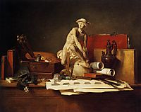 The Attributes of Art, 1766, chardin
