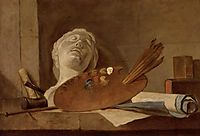 The Attributes of Painting and Sculpture, c.1728, chardin