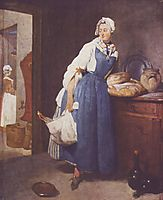 The Besorgerin, 1739, chardin