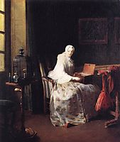 The Canary, c.1750, chardin
