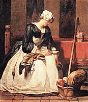 The Embroiderer, 1736, chardin