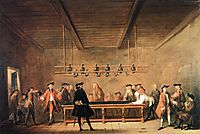 A Game of Billiards, 1725, chardin