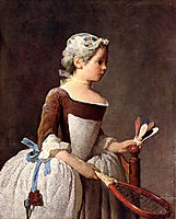 Girl with Racket and Shuttlecock, c.1740, chardin