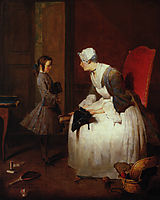 The Governess, 1739, chardin