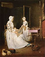 The Hard working Mother, 1740, chardin