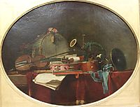 The instruments of music calendar , 1767, chardin