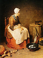 The kitchen maid, c.1740, chardin