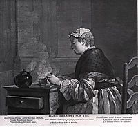 A lady who takes tea, chardin