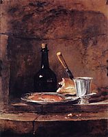 The Left Overs of a Lunch, also called the Silver Goblet, chardin