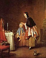 The morning toilet, c.1740, chardin