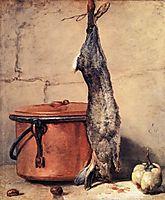 Rabbit and Copper Pot, c.1735, chardin