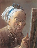 Self-Portrait with an Easel, 1779, chardin