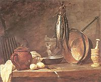 Still life: Fast Day Menu, 1731, chardin
