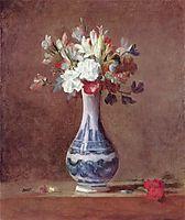 Still Life, Flowers in aVase, 1763, chardin