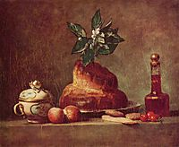 Still life with Brioche, 1763, chardin