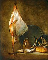 Still Life with Cat and Rayfish, c.1728, chardin