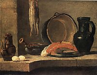 Still Life with Herrings, c.1731, chardin