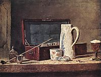 Still Life with Pipe an Jug, c.1737, chardin