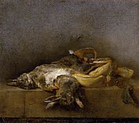 Still Life with Two Rabbits, c.1750, chardin