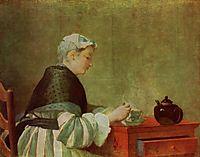 Thetea drinker, 1735, chardin