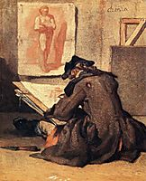 Young Draughtsman copying an Academy study, chardin