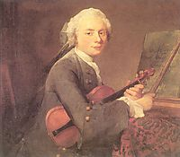 Young Man with a Violin (Portrait of Charles Theodose Godefroy), c.1735, chardin