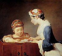 The Young Schoolmistress, 1740, chardin