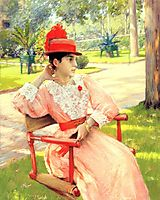 Afternoon In The Park, 1890, chase