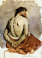 Back of a Male Figure, 1885, chase