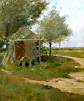 The Back Yard, Shinnecock, Long Island, New York, 1900, chase